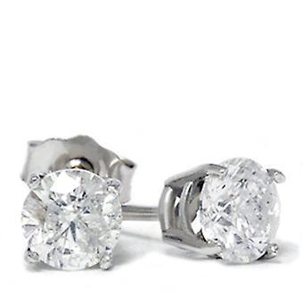 1 1 / 2ct Diamant Ohrstecker 14K White Gold