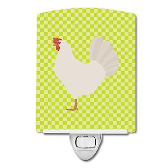 Carolines trésors BB7666CNL Leghorn poulet vert en céramique veilleuse