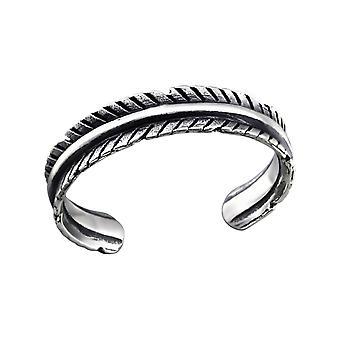 Leaf - 925 Sterling Silver Toe Rings - W27171X