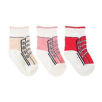 Baby meisjes katoen Rich Trainer Design sokken (pak van 3)
