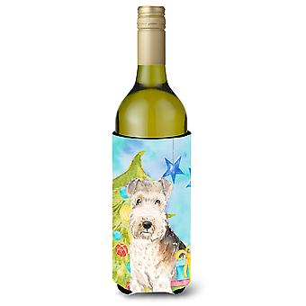 Christmas Tree Lakeland Terrier Wine Bottle Beverge Insulator Hugger