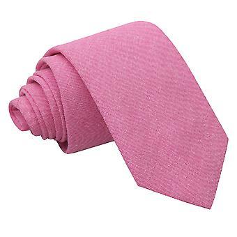Amaranth vaaleanpunainen Chambray puuvilla ohut Tie