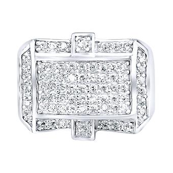 Sterling 925 Silver pave ring - STYLER