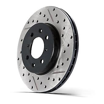 StopTech 127.67066L Sport Drilled/Slotted Brake Rotor (Rear Left), 1 Pack
