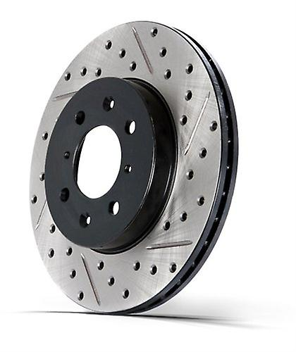 StopTech 127.34147R Sport Drilled and Slotted Rotor, Right