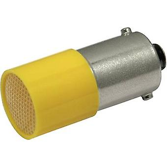CML LED-merkki valo BA9S keltainen 110 V DC, 110 V AC 0,4 LM 1882 4122