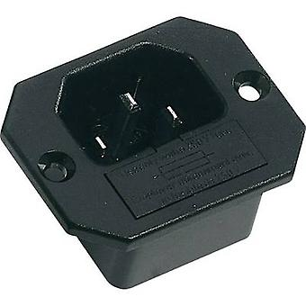 K & B 42R321111 IEC connector 42R Series (mains connectors) 42R Plug, vertical mount Total number of pins: 2 + PE 10 A Black 1 pc(s)