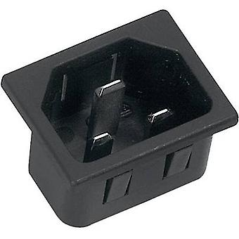 K & B 42R073121150 IEC connector 42R Series (mains connectors) 42R Plug, vertical mount Total number of pins: 2 + PE 16 A Black 1 pc(s)