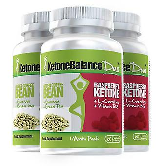 KetoneBalance Duo with Raspberry Ketones and Green Coffee Extract - 3 Month Supply - 2-in-1 Fat Burner - Evolution Slimming