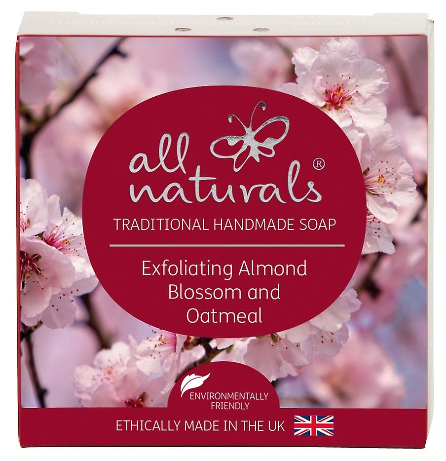 All Naturals Organic Soap Bar Almond Blossom and Oatmeal 100g.