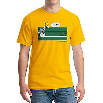 Intellivision Solitaire Hit? Game Men's Gold T-shirt