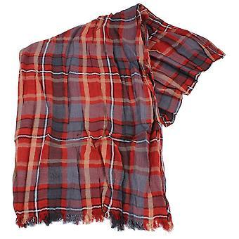Sciarpa in cotone Check cravatte Knightsbridge - ruggine rosso/grigio