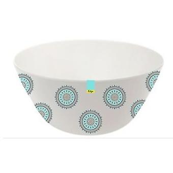 Blue Patterned Melamine abstracte zomer - Bowl 6 inch Camping keuken