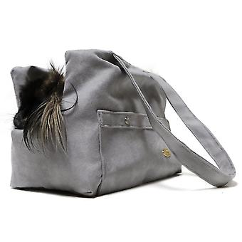 Grey Xuede reversible Dog/Pet Carry bag