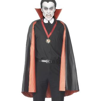Smiffy's Pvc Reversible Vampire Cape Black And Red