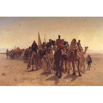 Pèlerins allant à la Mecque, Leon Belly, 60x40cm