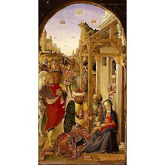A Adoração dos Magos, Lazzaro Bastiani, 80x40cm
