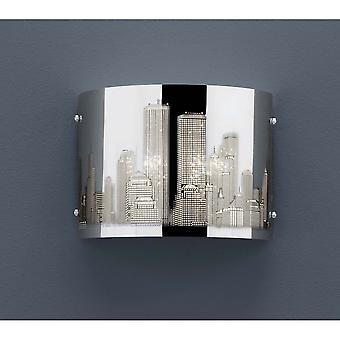 Trio Lighting Capital Modern Chrome Steel Wall Lamp