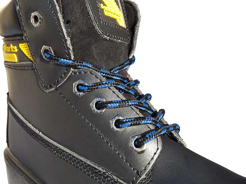 Black & Blue Work Boot Laces