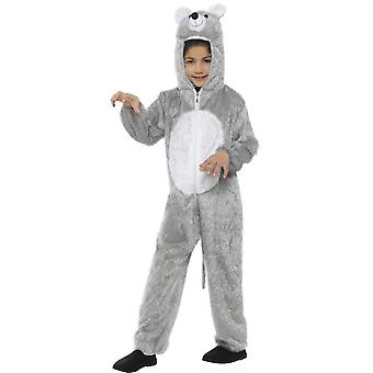 Mouse Costume, Grey, with Hooded Jumpsuit