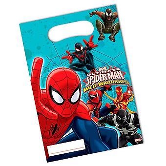 Part tasker poser taske Spiderman krigere kids part fødselsdag 6 stykker