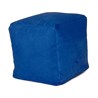 Seat cube seat stool Stool Noble Soft royal blue 40 x 40 x 40 cm