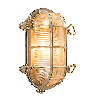 QAZQA Wall and ceiling light gold 23 / 16.5 cm IP44 - Nautica oval