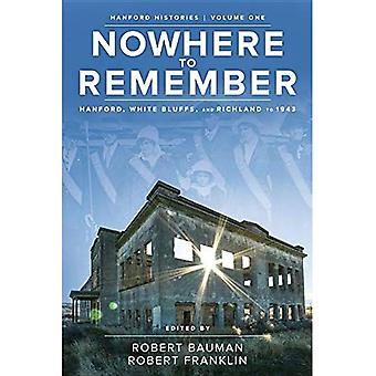 Nowhere to Remember: Hanford, White Bluffs, and Richland to 1943 (Hanford Histories)