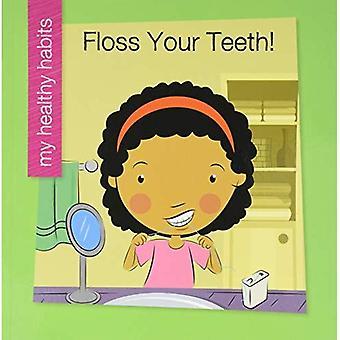 Filo interdentale i denti (mia biblioteca primo: mia abitudini sane)