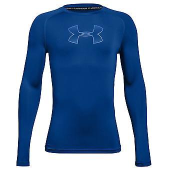 Under Armour HeatGear Armour Kids Long Sleeve Compression Baselayer Blue