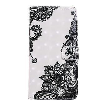 Samsung Galaxy S10 Plånboksfodral - Lace Flower
