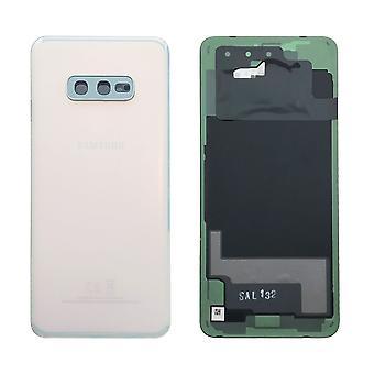 Samsung GH82-18452F batteri cover cover til Galaxy S10e G970F + lim pad hvid prisme hvid ny