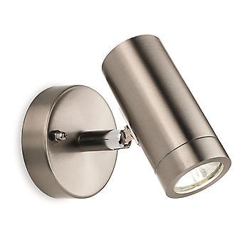 Firstlight-LED 1 lys enkelt utendørs vegg lys Spotlight rustfritt stål IP44-7673ST