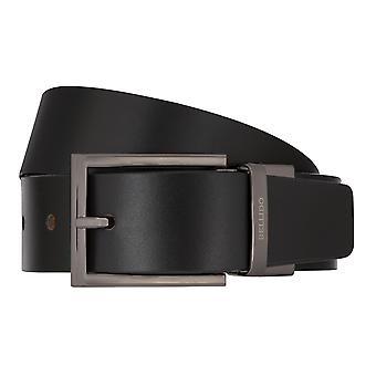 MIGUEL BELLIDO Belt Turn Belt Men Belt Leather Belt Black/Cognac 8002