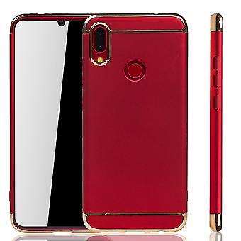 Huawei P Smart 2019 telefono cellulare custodia protettiva caso paraurti rigido rosso