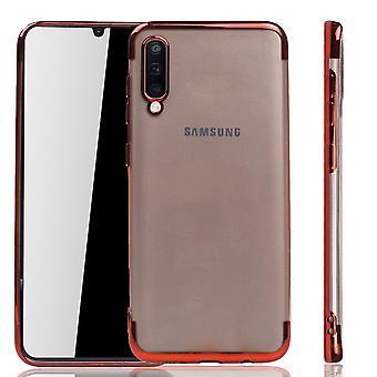 Samsung Galaxy A50 Red - Clear - TPU Silikonikotelon taustakotelon suojakotelo läpinäkyvässä punaisessa