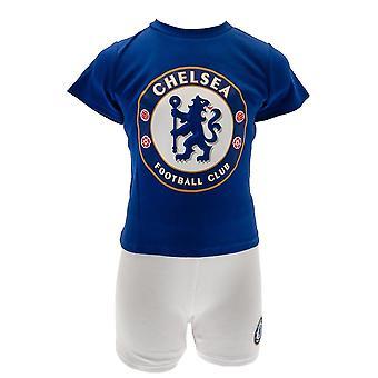 Chelsea FC Childrens/barn T skjorte og kort sett