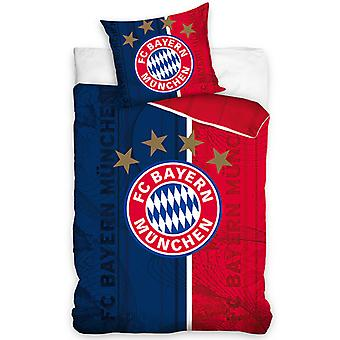 FC Bayern Mníchov Crest Jednobavlnený perina Set - Európska veľkosť