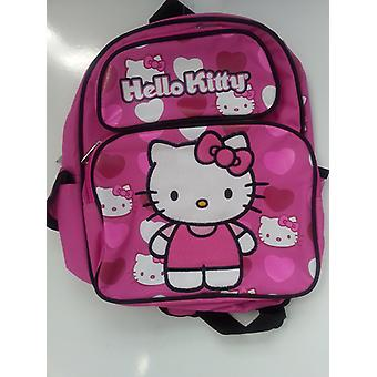 Small Backpack - Hello Kitty - Stand w/Pink Hearts 12