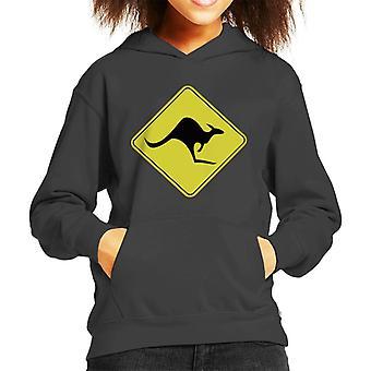 Kangaroo Sign Kid's Hooded Sweatshirt