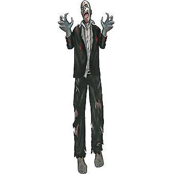 Bristol Novelty Zombie Jointed Cut Out Decoration