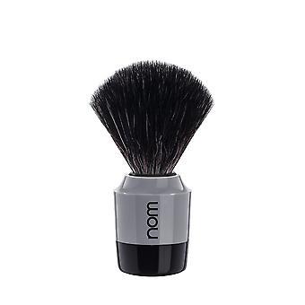 Nom Marten Black Fibre Shaving Brush - Grey/black