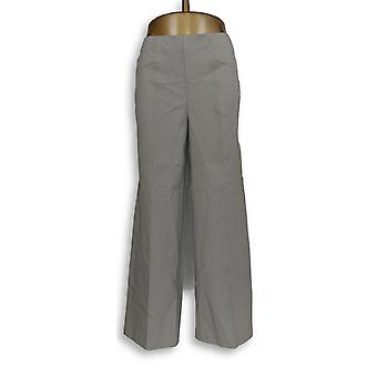 Isaac Mizrahi Live! Women's Petite Pants 24/7 Stretch Pull-On Grey A286104