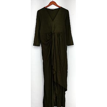 Kate et Mallory Robe 3/4 Manche avec Twist Front Center Olive Green A428763