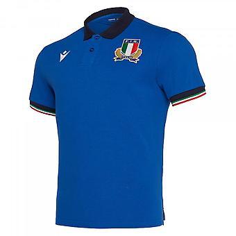 2019-2020 Italien Home Cotton Rugby skjorta