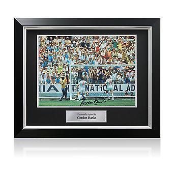 Gordon Banks firmó Inglaterra Foto: The Pele Save. Marco de lujo
