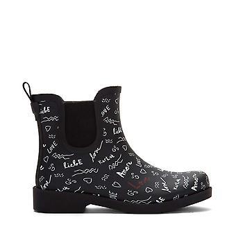 ED Ellen DeGeneres Womens ED-Wallita Rubber Closed Toe Ankle Chelsea Boots
