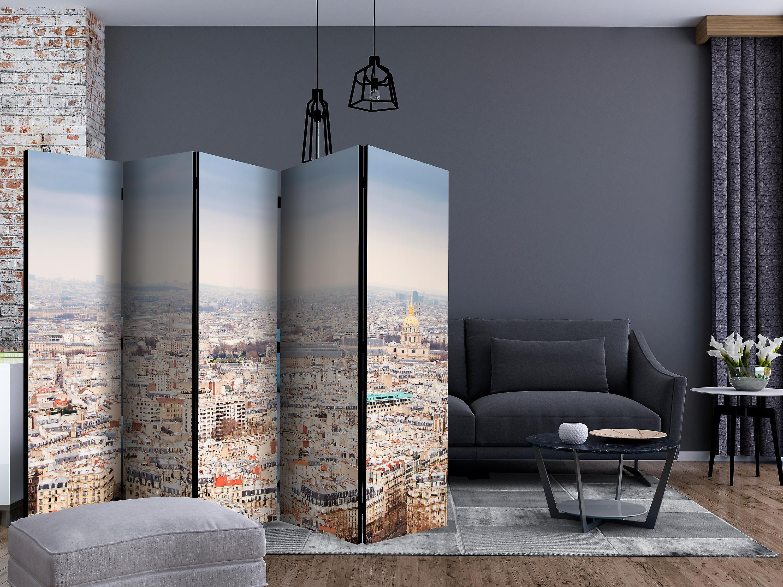 Paravent 5 volets - Paris Streets II [Room Dividers]