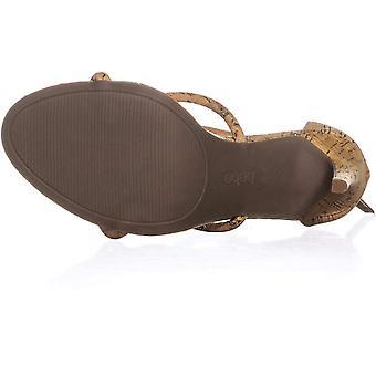 Bebe Womens Berdine-G kork fotled rem Heel sandaler