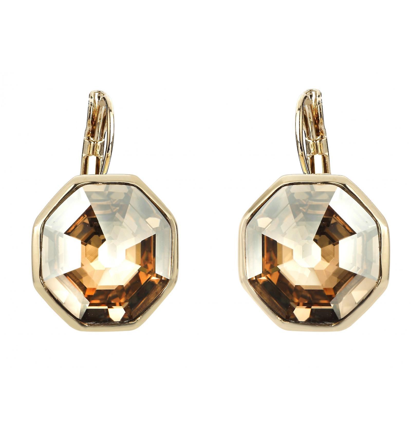 Traveller drop earring - Hexagon - 22ct gold palted - 156960